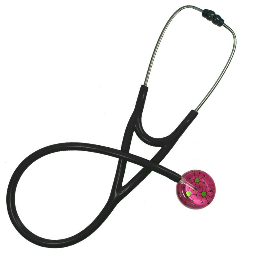UltraScope Cardiology Stethoscope Galactic Circles Hot Pink