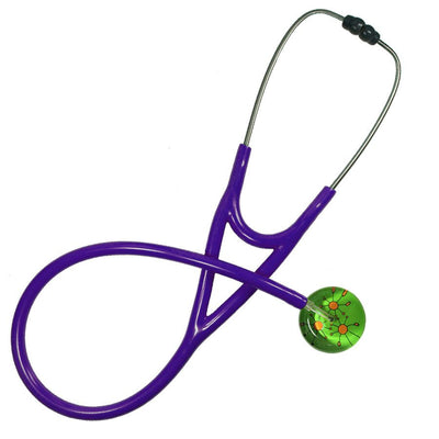 UltraScope Cardiology Stethoscope Galactic Circles Light Green
