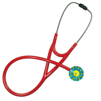 UltraScope Cardiology Stethoscope Sunny Side Up Light Blue