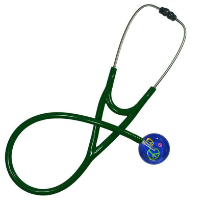 UltraScope Cardiology Stethoscope Peace Signs Royal Blue