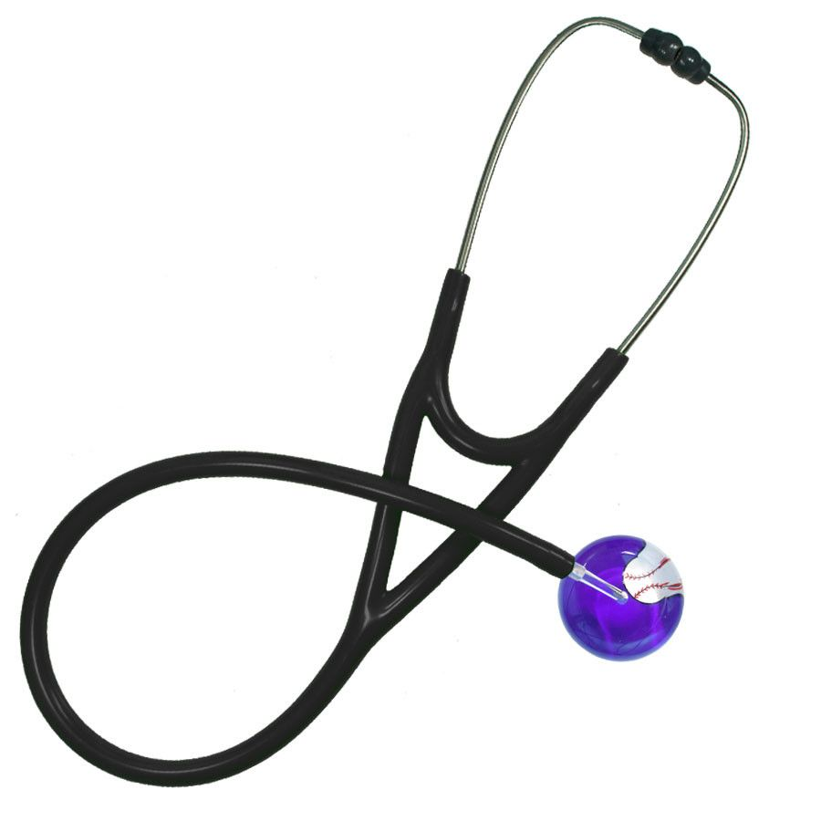 UltraScope Cardiology Stethoscope Baseball Purple