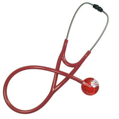 UltraScope Cardiology Stethoscope Baseball Red