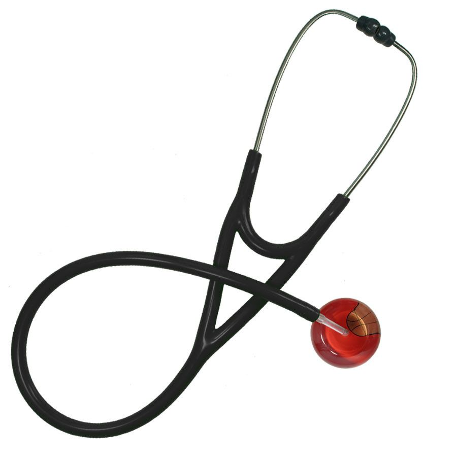 UltraScope Cardiology Stethoscope Basketball Red