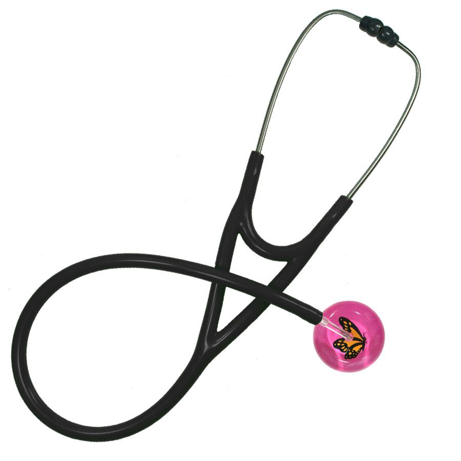 UltraScope Cardiology Stethoscope Monarch Butterfly Hot Pink
