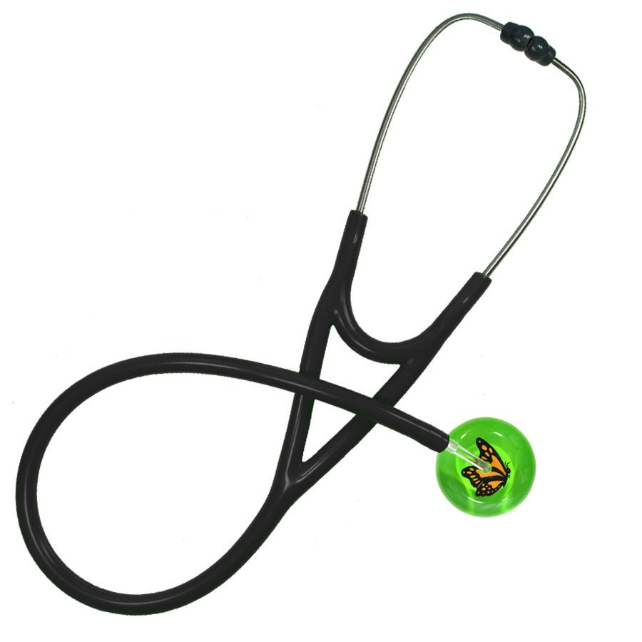 UltraScope Cardiology Stethoscope Monarch Butterfly Light Green