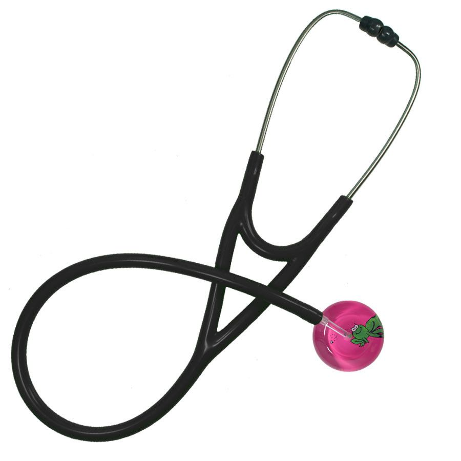 UltraScope Cardiology Stethoscope Cartoon Frog Hot Pink