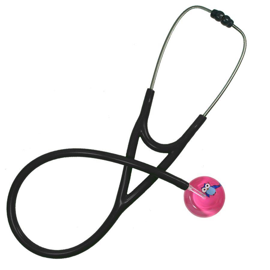 UltraScope Cardiology Stethoscope Cartoon Owl Hot Pink