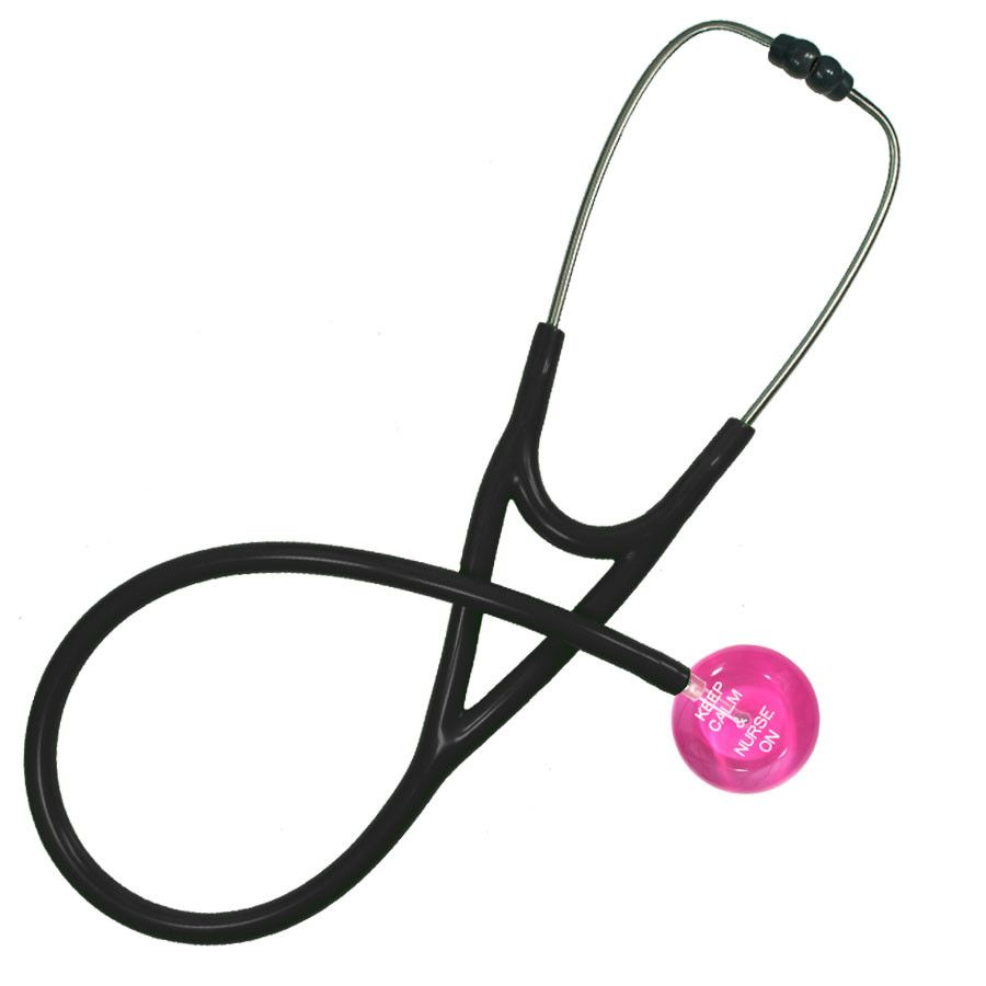 UltraScope Cardiology Stethoscope Keep Calm & Nurse On (Pre- Engraved) Hot Pink
