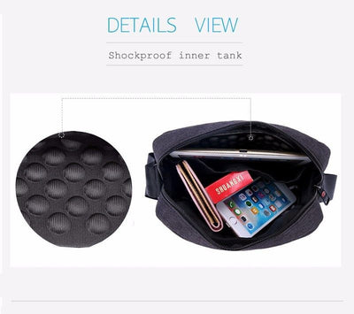 Shock proof inner compartment of the Tigernu Messenger Bag