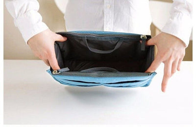 Inner compartment of the Ganador Nurse Handbag & Desktop Organizer