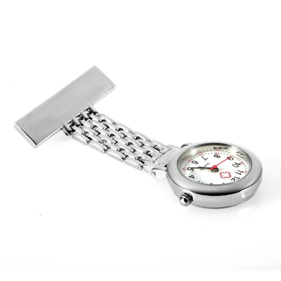 OUTAD Stainless Steel Nurse Brooch Pocket Watch