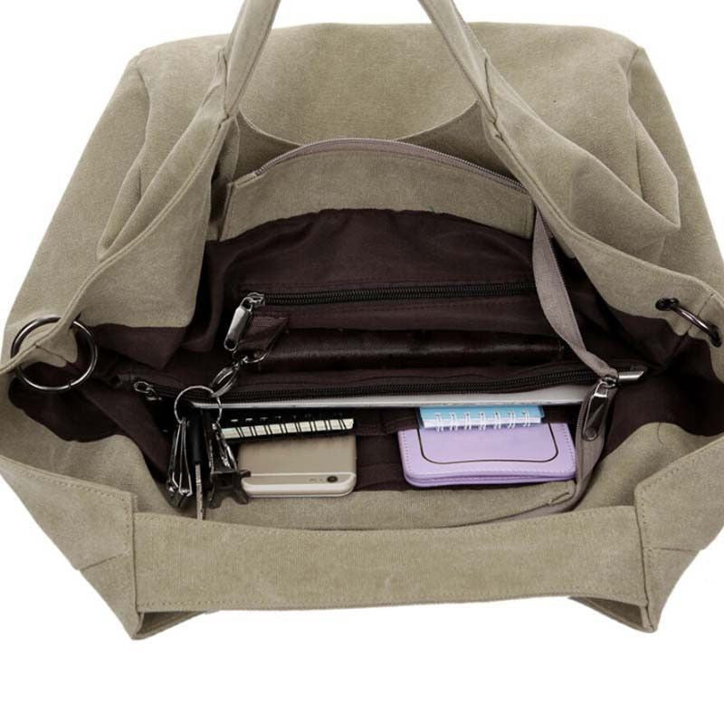 Inner compartments of the Brinjaul Nurse Tote Bag