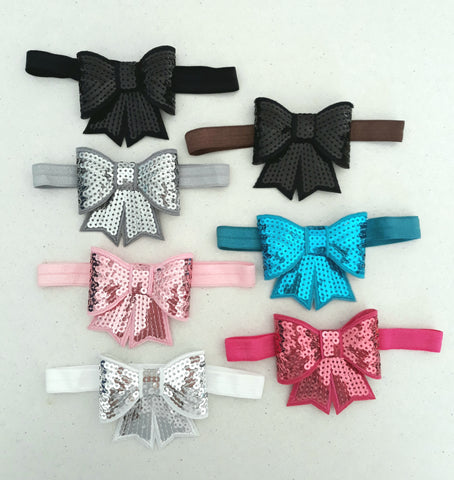 Headbands- Sequins Bow