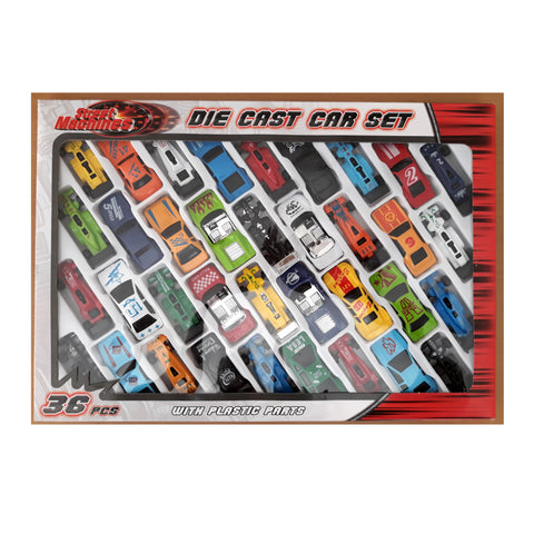 36 piece Die cast Vehicle set