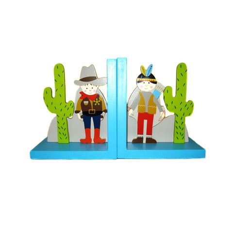 Cowboy & Indian Bookends