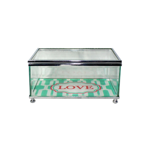 'Love' Glass Jewellery Box