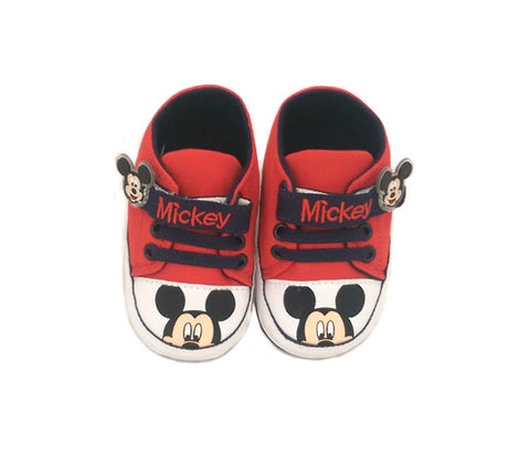 Mickey Mouse Pre-Walkers - Red