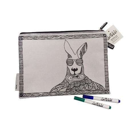 Scribbla Pencil Case - Kangaroo