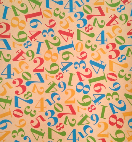Wrapping Paper - Kraft Numbers