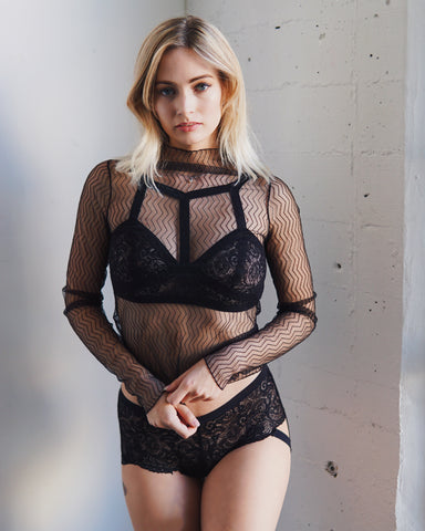 Wrap Around Me Mesh Bralette