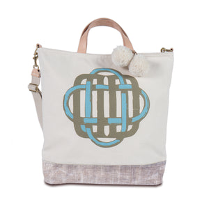 Ben day tote with William Font