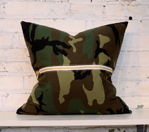 camo back pillow |  multi front options