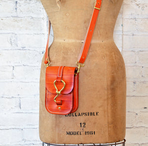 luther crossbody | hand-dyed orange