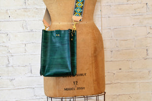 kennedy crossbody | small hand-dyed emerald