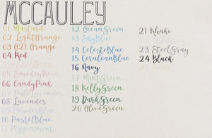 no. 2 carryall | mccauley font