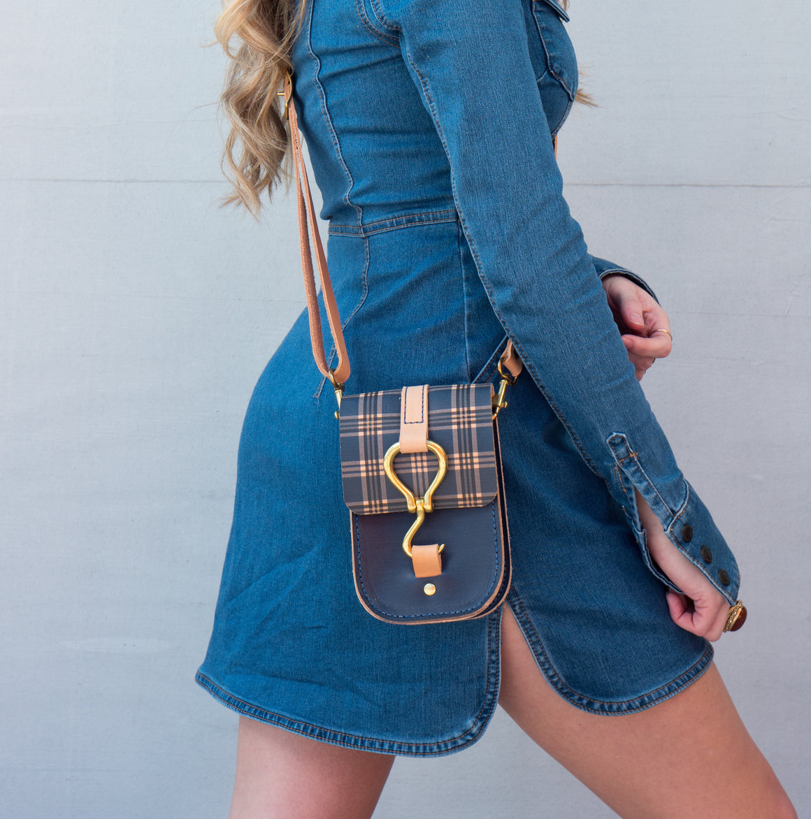 luther crossbody | uk plaid