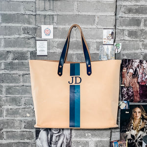 the leon tote | custom leather