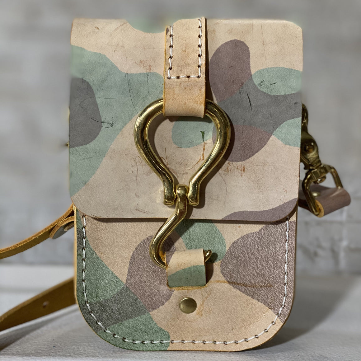 luther crossbody | yellow ghost camo