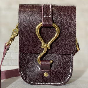 luther crossbody | bordeaux pebble