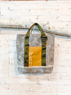 ben day tote | tiger patch