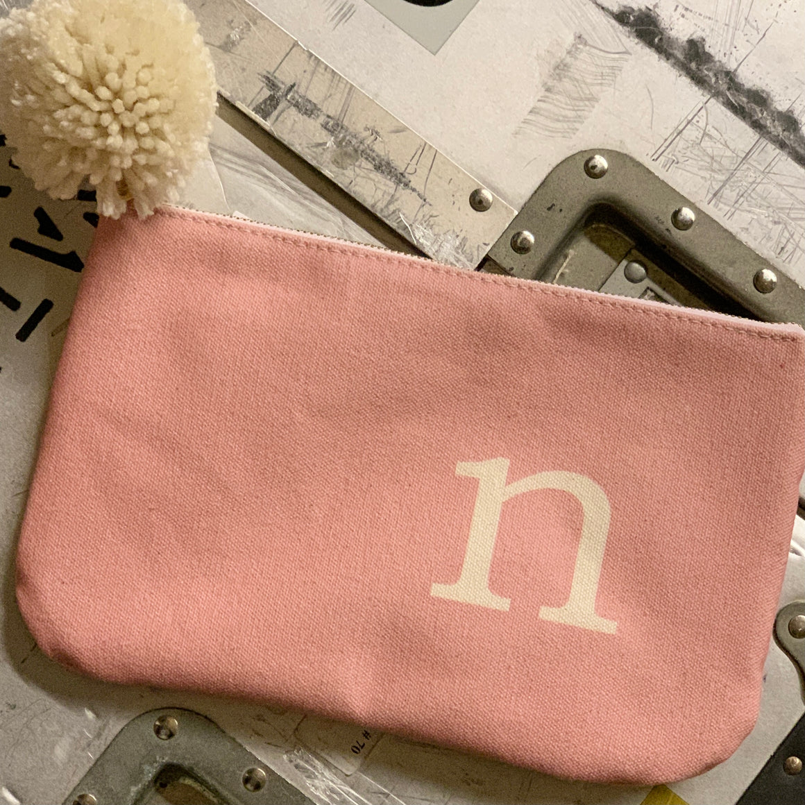letter pouch | pink
