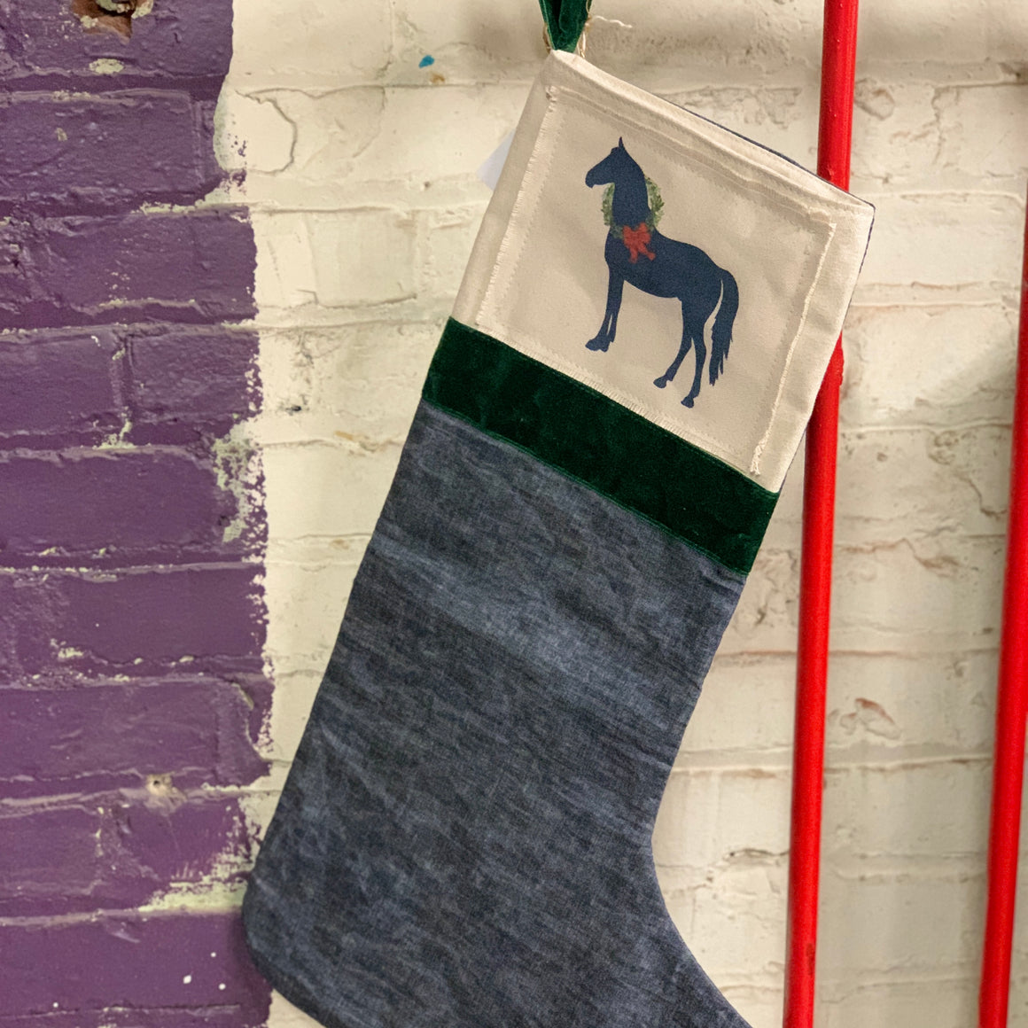 christmas stocking | standing horse