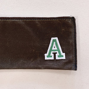 mitchell pouch | brown w/ varsity letter
