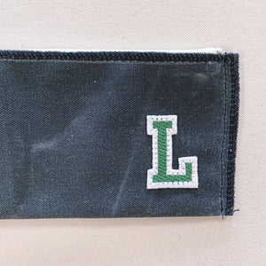 mitchell pouch | slate w/ varsity letter
