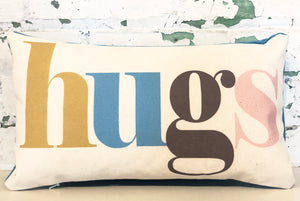hugs pillow | pastel multi