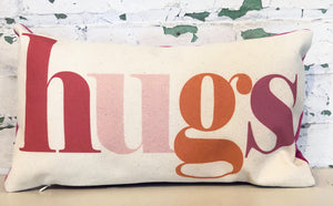 hugs pillow | pink multi