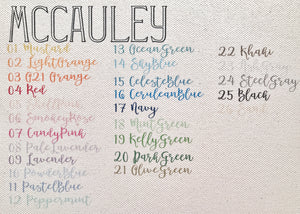no. 5 large cosmetic | mccauley font