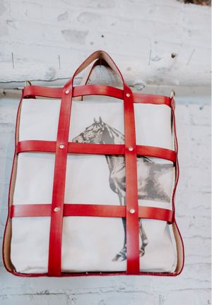 the cage tote | red