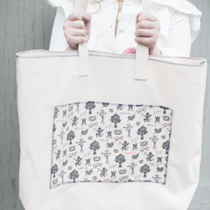 ollie tote | sketch heart
