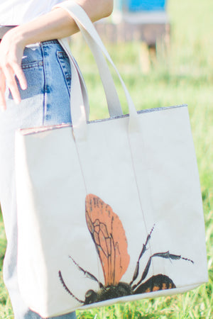 lenny tote XL | save the bee