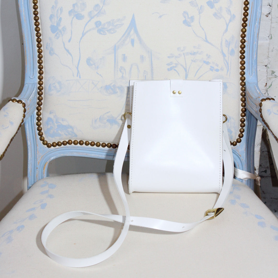 kennedy crossbody | white leather