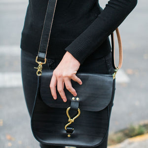 rupp crossbody | hand-dyed black