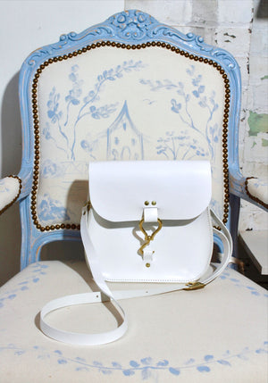 rupp crossbody | white leather