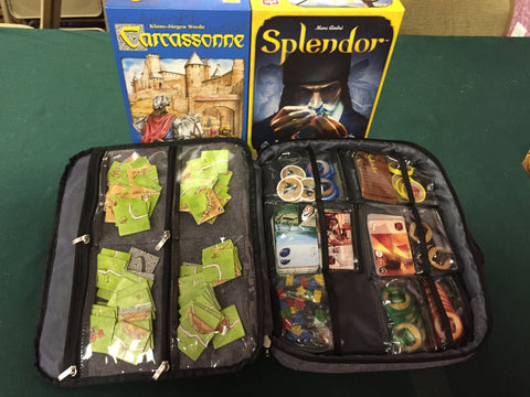 Splendor and Carcassonne (Two Games in One Gamefolio Case)