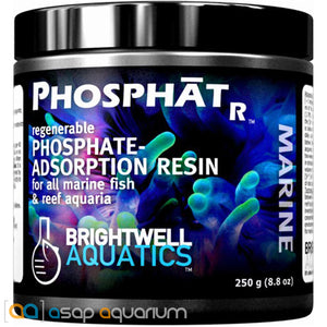 Brightwell PhosphatR Regenerable Phosphate Resin 250 gram Phosphate Removal Resin - ASAP Aquarium