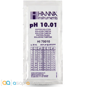 Hanna Instruments pH 10.01 Calibration Solution 20 ml Sachet - ASAP Aquarium